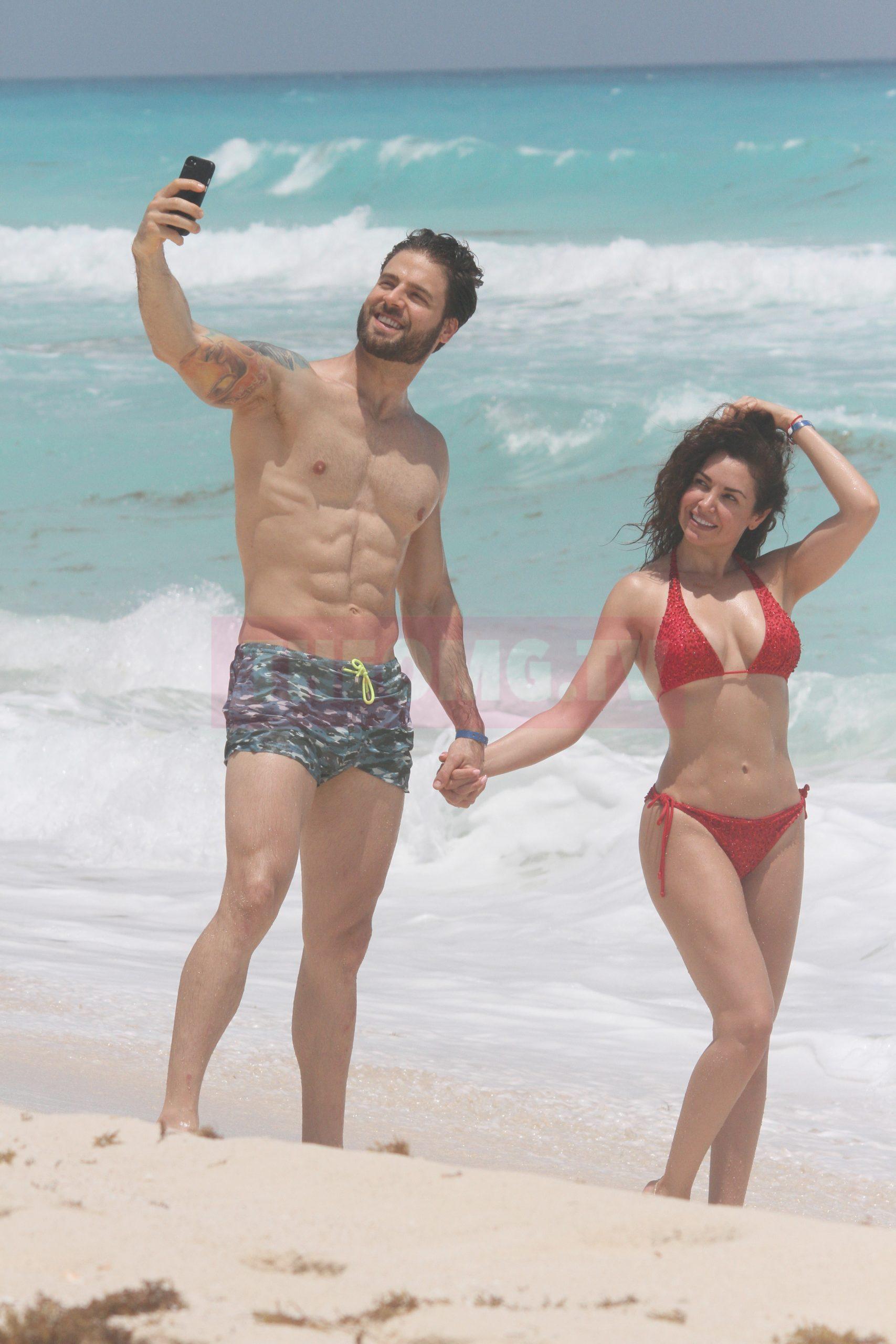 Mayte Carranco y Jorge Losa en Cancún