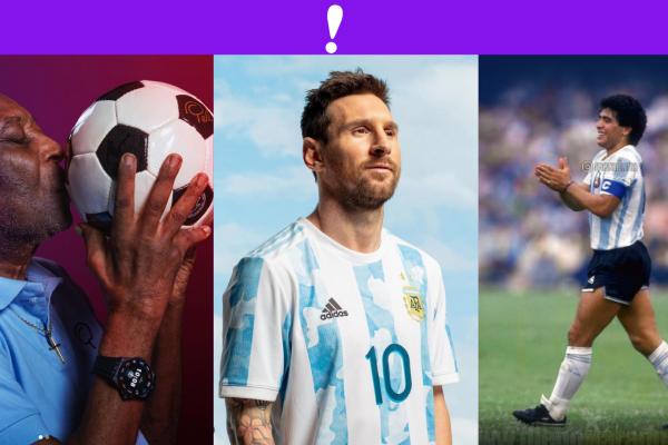 Pele, Maradona y Messi copa america 2021
