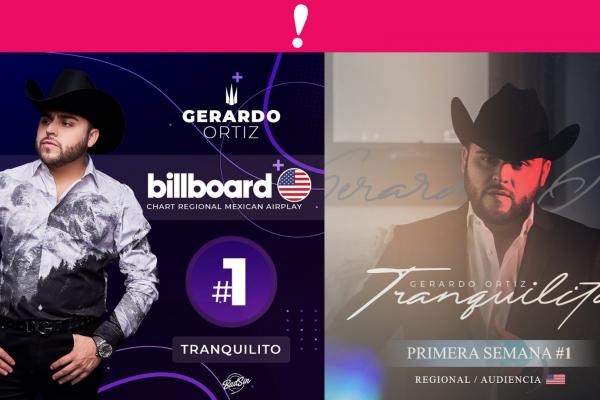 Gerardo Ortiz Sencillo Tranquilito en Billboard